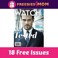 FREE 3 yr subscription to Watch Magazine  http://freebies4mom.com/watchmagazine/  Which other magazines are you getting for free?