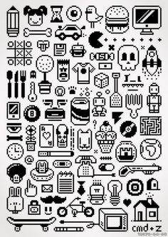 Random 8-bit icons