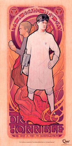 Doctor Horrible: Art Nouveau Prints