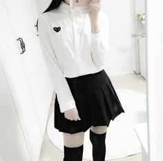 Ulzzang girl faceless Korean Fashion