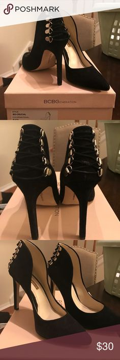 BCBGeneration Black Suede Pumps Worn 2-3 times. In great condition! BCBGeneration Shoes Heels