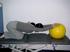 ejercicios de elongación de hombro y espalda.