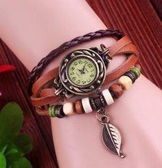 Высокое Качество Натуральная Кожа Винтаж Смотреть Женщин браслет Наручные Часы D7553 #jewelry, #women, #men, #hats, #watches