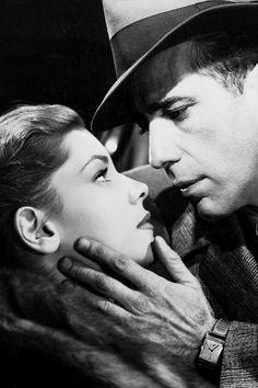 Lauren Bacall and Humphrey Bogart in The Big Sleep (1946).