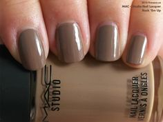 MAC Studio Nail Lacquer in Rack 'Em Up (swatch by fivezero.ca) [taupe, brown]