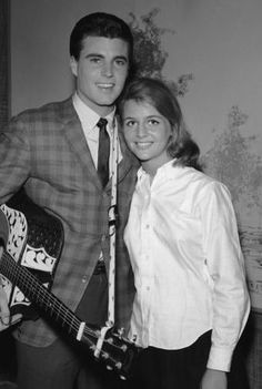 """Image detail for -Title: kristin harmon and ricky nelson picture. This was Kris's 1st picture with Ricky, she has a sign under it that said """"nothing is impossible""""...so true."""