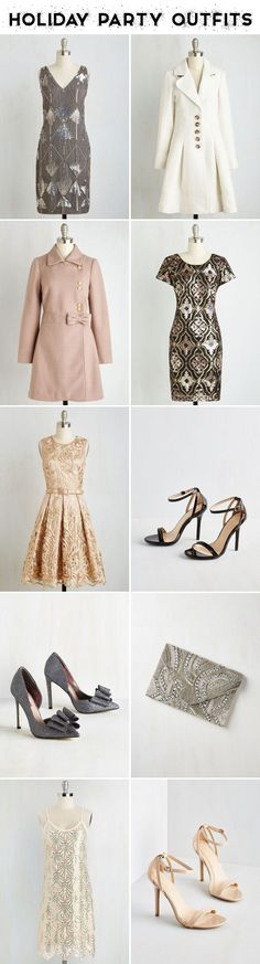 Adorable Holiday Party Outfits! Dresses, Shoes, and Jackets to keep you looking cute this season!