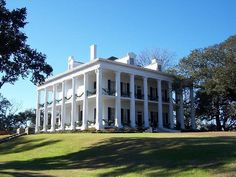 Dunleith Plantation, Natchez, Mississippi    Encircled by 26 stately white columns, Dunleith is one of the most beautiful mansions in Natchez, Mississippi.