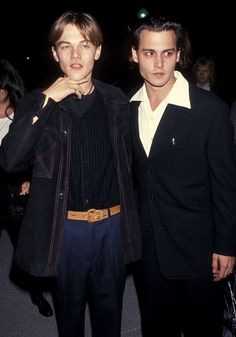 Johnny Depp admits 'torturing' a young Leonardo DiCaprio on movie set - . - Johnny Depp admits 'torturing' a young Leonardo DiCaprio on movie set – - Johnny Depp Leonardo Dicaprio, Brad Pitt, Young Johnny Depp, Beautiful Boys, Pretty Boys, Cute Boys, Gilbert Grape, Junger Johnny Depp, Celebs