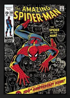 'The Amazing Spider-Man #100 The Spider or the Man?' A Limited Edition Marvel Artwork hand signed by Stan Lee.  Available at;  http://wyecliffe.com/collections/stan-lee-marvel-art/products/the-spider-or-the-man-lee  Call the gallery on 01932 847939