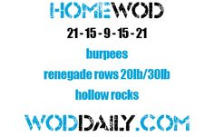 Tuesday 130820 - Home WOD by woddaily.com