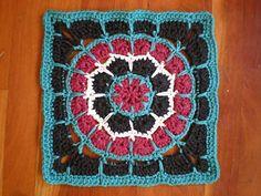 "mandala square | Ravelry: Magic Spike Mandala Square - 12"" pattern by Tamara Kelly"