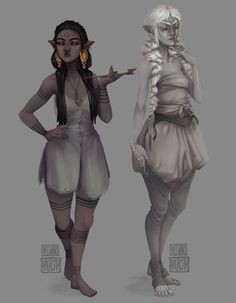 Two parts of a 'common Types of Undergarments' thing I was working on. I keep forgetting to upload anything, so here are these. Please Do Not Reupload M. Character Drawing, Character Concept, Concept Art, Dungeons And Dragons Characters, D D Characters, Dark Fantasy Art, Fantasy Books, Elves Fantasy, Dark Elf