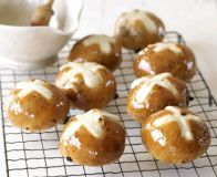 Make the most of the long Easter weekend and fill the house with the smell of spiced buns baking, from BBC Good Food. Baking Buns, Master Baker, Hot Cross Buns, Bun Recipe, Bbc Good Food Recipes, Baking Recipes, Delicious Fruit, Tray Bakes, Food Hacks