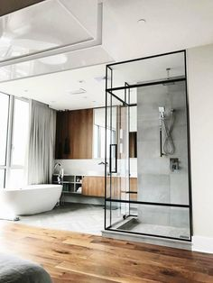 61 ideas bath room modern design black shower doors for 2019