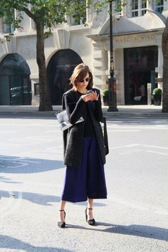 Thinking culottes nah…? You'll change your mind when you see this street style culottes look