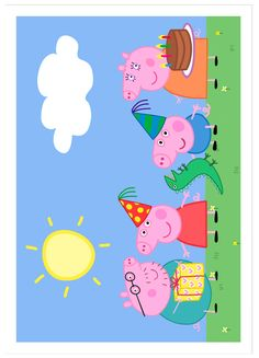 Ver producto: Modelo nº Peppa Pig para tarta Chuck a new birthday celebration which Cumple George Pig, Peppa E George, George Pig Party, Bolo Da Peppa Pig, Cumple Peppa Pig, Peppa Pig Pinata, Invitacion Peppa Pig, Peppa Pig Wallpaper, Peppa Pig Printables