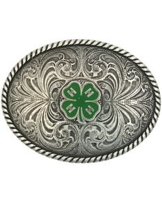 4-H Emblem Buckle, I totally would want that!