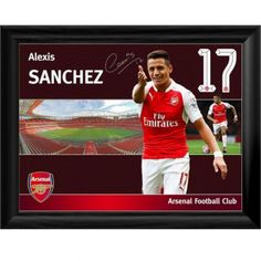 Arsenal F.C. Framed Print Sanchez 16 x 12