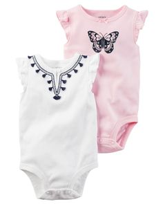 2-Pack Flutter-Sleeve Original Bodysuits from Carters.com. Shop clothing & accessories from a trusted name in kids, toddlers, and baby clothes.