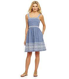 Jessica Simpson Artwork FitandFlare Dress #Dillards