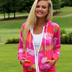 **NEW** Monogrammed Printed Hoodie from Marleylilly.com