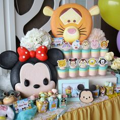 Tsum2 Birthday Party with Sweet Corner by Charis Decoration. #tsum2party #tsum2theme