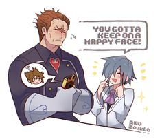 """""""I thought the gummiphone was powered by smiles like the gummi ship worked, so I decided to draw this! Aeleus's not really good at handling of the phone XD Kingdom Hearts 3, Kingdom Hearts Characters, Final Fantasy Artwork, Mega Man, Cute Love, The Help, Memes, Video Games, Fan Art"""