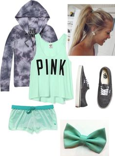 """""""Lets Exercise with Victoria's Secret Clothing"""" by alexperisin ❤ liked on Polyvore"""