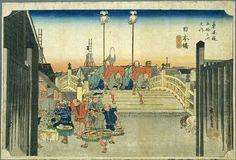 Hiroshige: 'Brige: Nihonbashi à l'aube.'