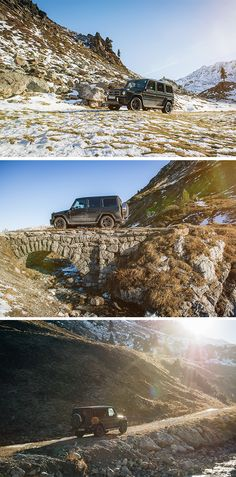 Snowy tracks, small bridges and rocky roads - The Mercedes-AMG G 63 knows no limits. Photos by Florian Haizmann (www.prismview.de) for #MBsocialcar [Mercedes-AMG G 63 | Fuel consumption combined: 13.8 l/100km | combined CO₂ emissions: 322 g/km | http://mb4.me/efficiency_statement]