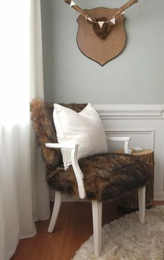 faux fur chair via the nester
