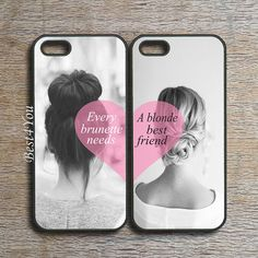 iPhone 5S case,every brunette need a blonde best friends,iPhone 5C case,iPhone 5 case,ipod 5 case,ipod 4 case,iphone 4s case,freely mix  two