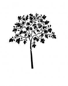 Wall Stencil - FIG TREE - Reusable - DIY Home Decor   OliveLeafStencils - Furnishings on ArtFire