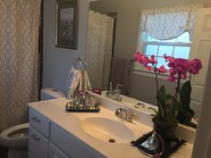 Radiant orchid powder room