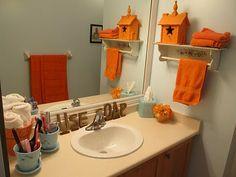 1000 images about orange teal bathroom on pinterest for Bathroom decor orlando