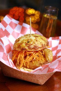 World Street Kitchen's MFC Biscuit Sandwich is made with Moroccan fried chicken