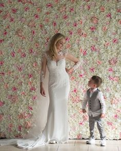 LOVE this photo of Muriel, one of our beautiful 2019 brides, in front of our flower wall. To hire the flower wall for your big day get in touch! Wedding Venue Decorations, Wedding Venues, Irish Wedding, Wedding Flowers, Wedding Dresses, Flower Wall, Silk Flowers, Big Day, Brides