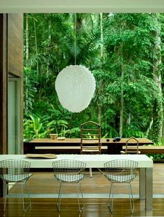AC Iporanga / Studio Arthur Casas #dining #outdoor #gourmet #exterior #patio #yard #green #nature