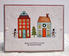 Holiday Home and Filigree Frame embossing folder new 2014-2015 Stampin' Up! Christmas