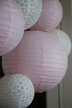 Pale pink and white paper lanterns Mint Party, Party Party, Ideas Party, Party Time, 16th Birthday, Birthday Ideas, Birthday Parties, Vintage Shabby Chic, Shabby Chic Style