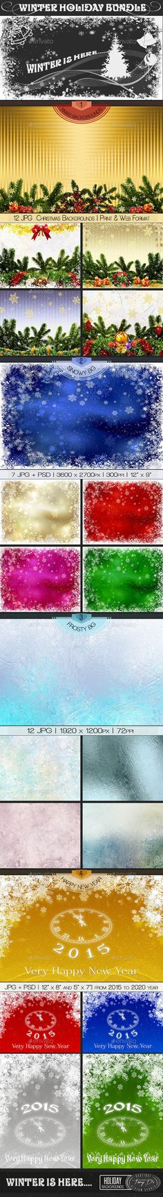 Winter Holiday | Bundle - Miscellaneous Backgrounds