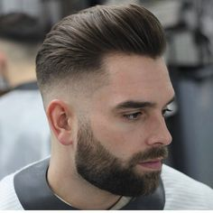 Short Pompadour Fade - Best Men's Hairstyles: Cool Haircuts For Men. Most Popular Short, Medium and Long Hairstyles For Guys Trendy Mens Haircuts, Popular Haircuts, Cool Haircuts, Cool Hairstyles, Men's Haircuts, Medium Hairstyles, Wedding Hairstyles, Mens Hairstyles With Beard, Modern Haircuts