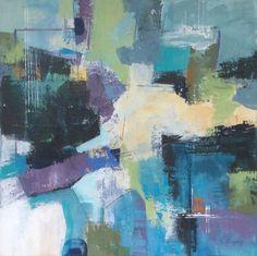 Up stream n°2 - Linda Coppens - acrylic on canvas - 70x70x4cm