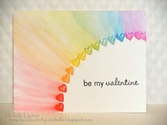 Handmade by Michelle: Clean and Simple Cardmaking 2 - Day 2 - Karten - Valentines day Love Cards, Diy Cards, Diy Birthday, Birthday Cards, Valentine Day Cards, Valentines, Valentine Hearts, Simple Card Designs, Tarjetas Diy