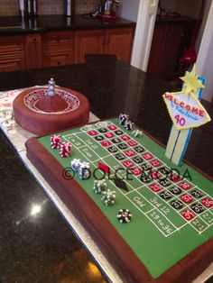 Las Vegas Roulette cake. We could make this a wedding cake. not a 40th birthday cake.