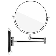 Spaire Bathroom Mirror Magnification Normal Double Sided 8 Inch Wall Mounted  Vanity Mirror Swivel, Extendable And Chrome Finished