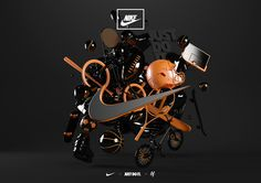 Nike - 3D Experiential by Ben Fearnley, via Behance #3D #design