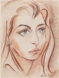 Retrato de Mujer Joven Portrait of a woman by Lino Eneas Spilimbergo