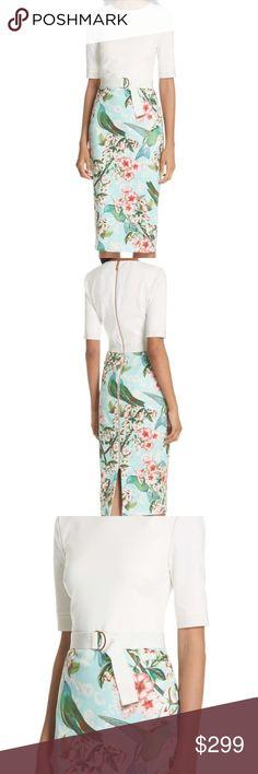 cf15d6611e9 New TED BAKER Julieta Nectar Body-Con Dress size 5 Ted Baker size 0